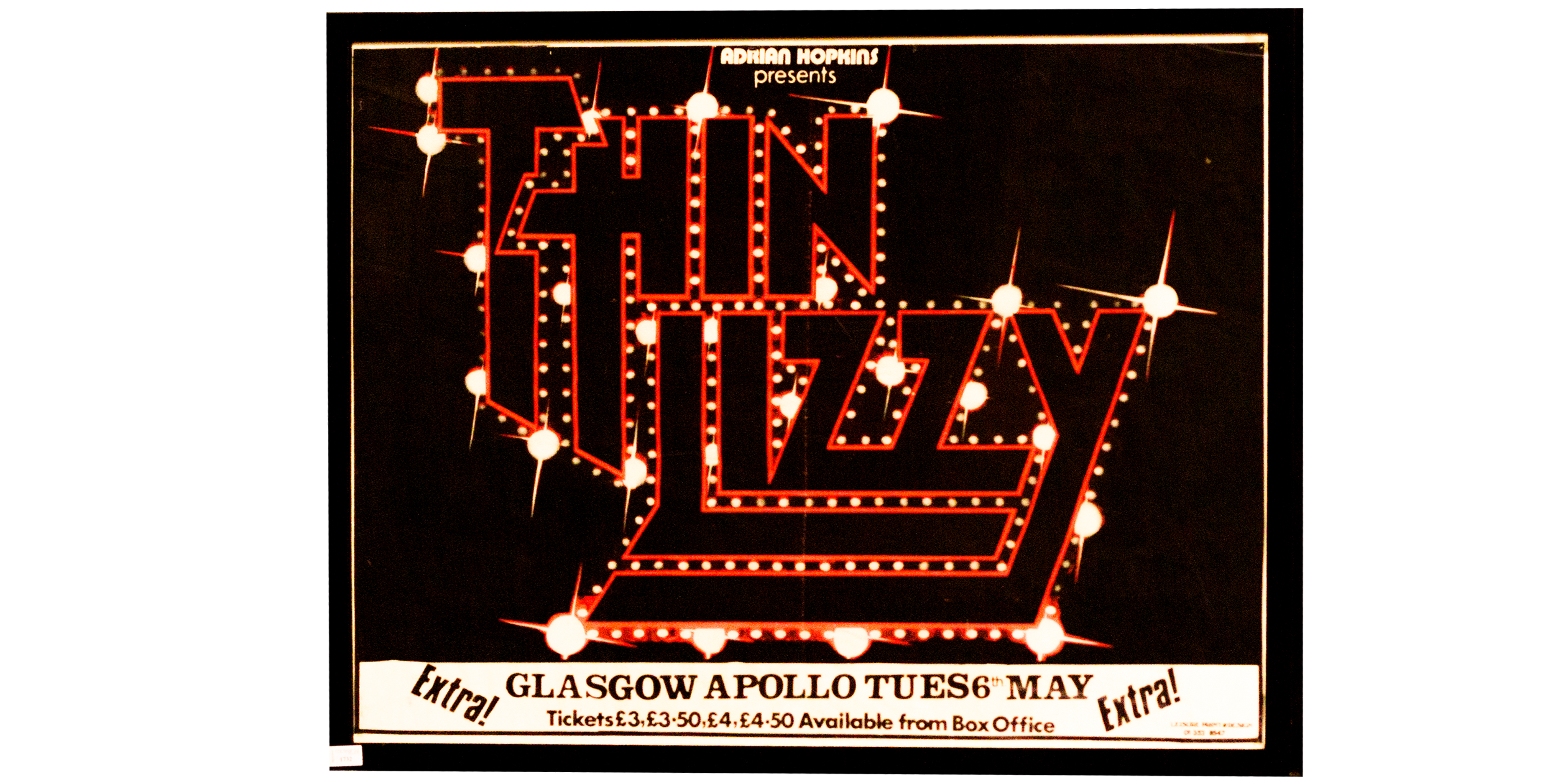 Image of 1980 Think Lizzy poster
