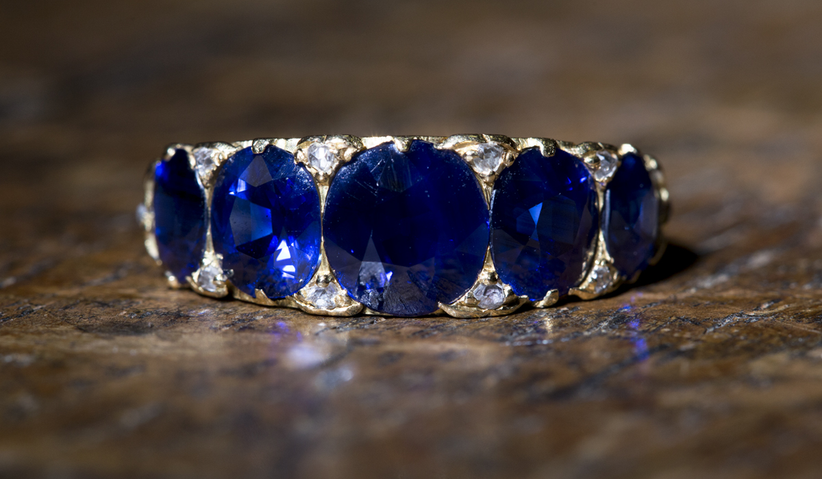 Image of victorian sapphire ring sold for sixteen times its estimate