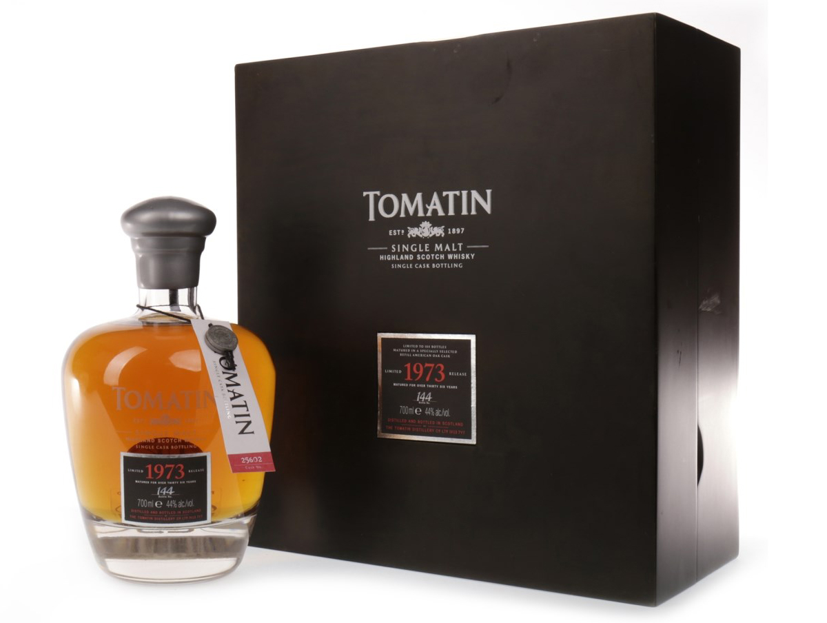 Lot 1310, Rare & Collectable Whisky Auction, December 2017, Tomatin 1973 aged over 36 years – sold for £500