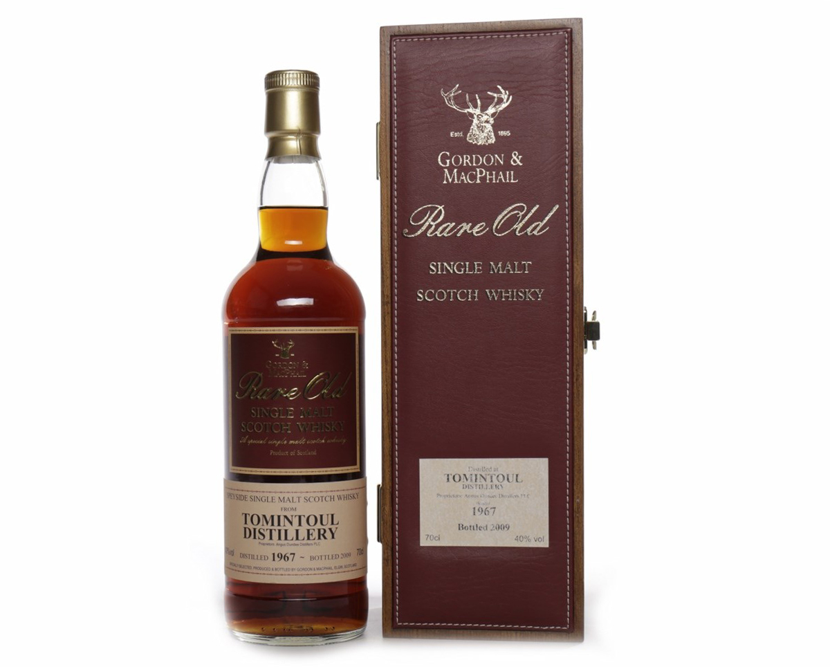 Lot 1226, Rare & Collectable Whisky Auction, June 2017, Tomintoul 1967 G&M Rare Old aged over 41 years – sold for £300
