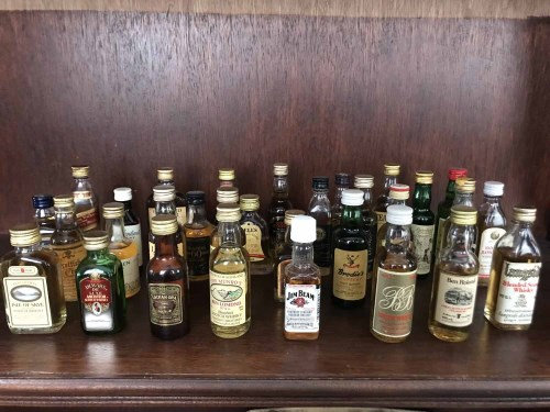 Lot 12-APPROXIMATELY SEVENTY WHISKY MINIATURES Mostly...