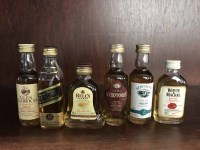 Lot 17-SIX SCOTCH WHISKY MINIATURES Three single malts,...