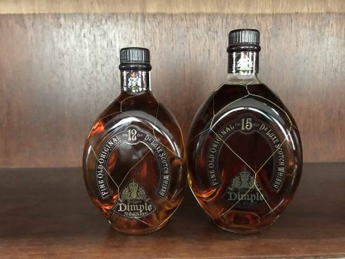 Lot 23-DIMPLE 15 YEARS OLD - ONE LITRE Blended Scotch...