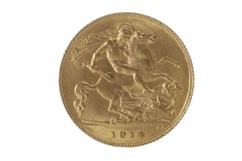 Lot 501 - GOLD HALF SOVEREIGN DATED 1914