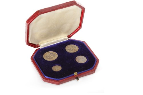 Lot 508 - SET OF MAUNDY MONEY DATED 1906 comprising four...