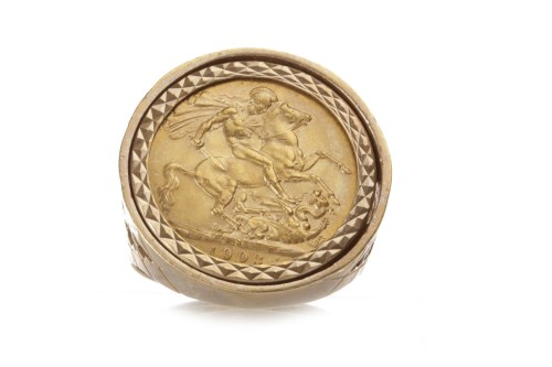 Lot 514 - GOLD SOVEREIGN DATED 1903 mounted in a nine...