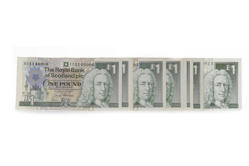 Lot 520 - GROUP OF JACK NICKLAUS £5 FIVE POUND NOTES...