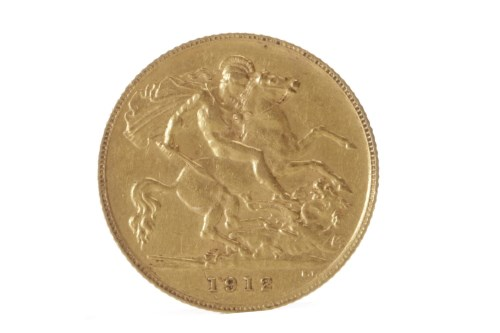 Lot 523 - GOLD HALF SOVEREIGN DATED 1912