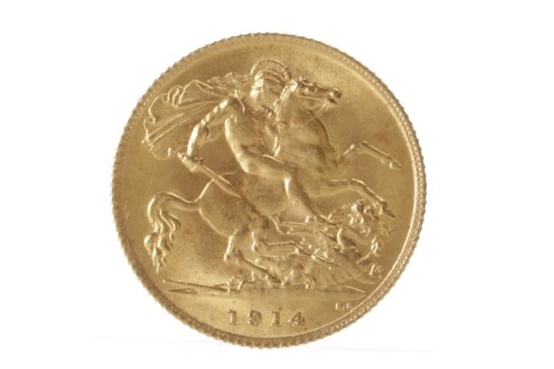 Lot 524 - GOLD HALF SOVEREIGN DATED 1914