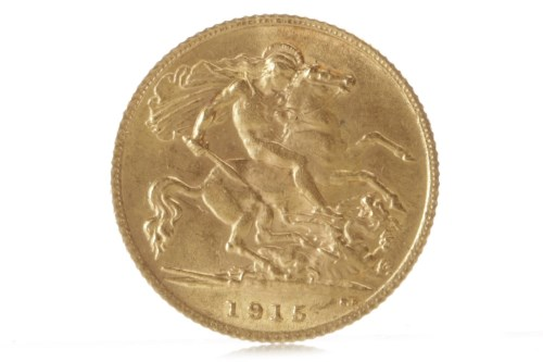 Lot 527 - GOLD HALF SOVEREIGN DATED 1915