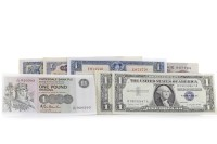 Lot 540 - COLLECTION OF VARIOUS UK AND USA BANKNOTES...
