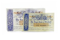 Lot 546 - THE ROYAL BANK OF SCOTLAND £5 FIVE POUNDS NOTE...