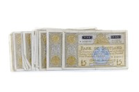 Lot 549 - COLLECTION OF VARIOUS BANK OF SCOTLAND £5 FIVE...