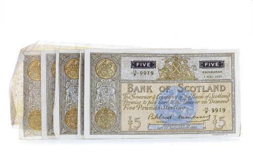 Lot 553 - COLLECTION OF BANK OF SCOTLAND £5 FIVE POUNDS...