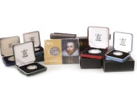 Lot 557 - COLLECTION OF VARIOUS SILVER PROOF COINS...