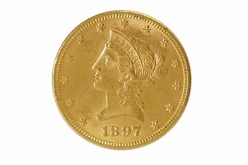 Lot 566-GOLD USA DOLLAR DATED 1897 16.8g