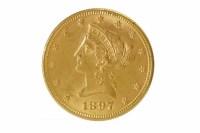 Lot 566 - GOLD USA DOLLAR DATED 1897 16.8g
