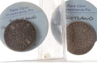 Lot 569 - THREE SCOTTISH SILVER COINS comprising a...