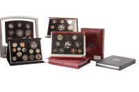 Lot 571 - NINE UK ANNUAL PROOF COINAGE SETS including...