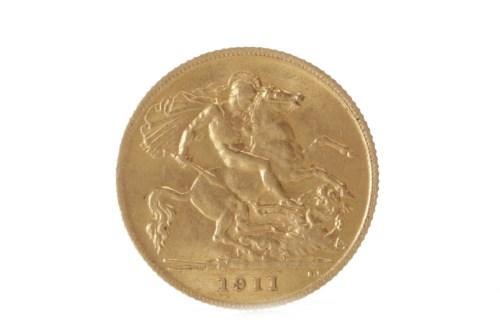 Lot 577 - GOLD HALF SOVEREIGN DATED 1911
