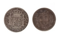 Lot 588 - SILVER CHARLES III 8 REALES COIN DATED 1788...