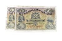Lot 590 - TWO THE NATIONAL BANK OF SCOTLAND £20 TWENTY...