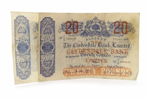 Lot 594 - THE CLYDESDALE BANK LIMITED £20 TWENTY POUNDS...