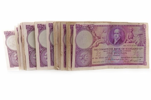 Lot 597 - GROUP OF THE COMMERCIAL BANK OF SCOTLAND £5...