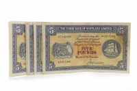 Lot 598 - SIX THE UNION BANK OF SCOTLAND LIMITED £5 FIVE...
