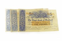 Lot 601 - TWO THE ROYAL BANK OF SCOTLAND £5 FIVE POUNDS...