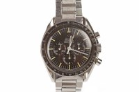 Lot 751-GENTLEMAN'S OMEGA SPEEDMASTER STAINLESS STEEL...