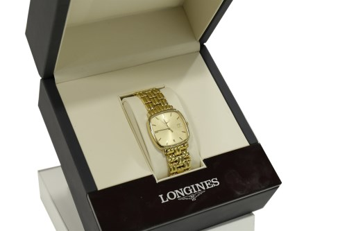 Lot 753 - GENTLEMAN'S LONGINES GOLD PLATED QUARTZ WRIST...