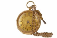 Lot 759-VICTORIAN EIGHTEEN CARAT GOLD POCKET WATCH the...