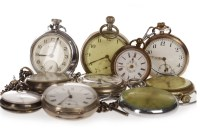 Lot 761-GROUP OF VARIOUS POCKET WATCHES including a...