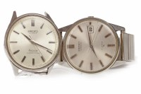 Lot 762 - GENTLEMAN'S SEIKO STAINLESS STEEL AUTOMATIC...