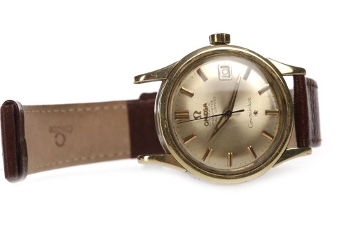 Lot 765-GENTLEMAN'S OMEGA CONSTELLATION GOLD PLATED...