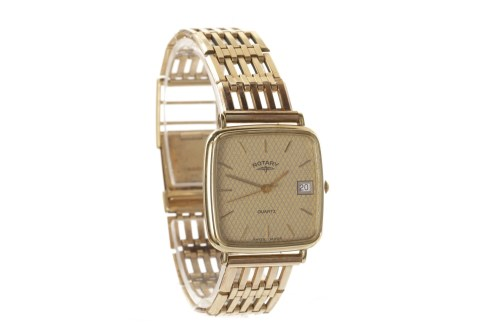 Lot 767-GENTLEMAN'S ROTARY NINE CARAT GOLD QUARTZ WRIST...