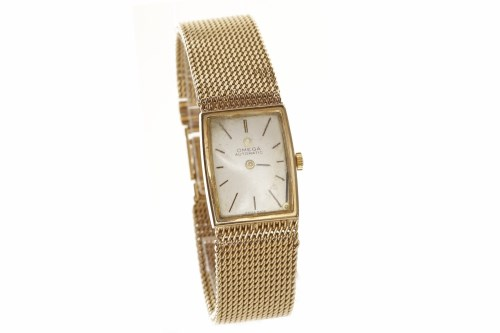 Lot 775 - LADY'S OMEGA NINE CARAT GOLD MANUAL WIND WRIST...