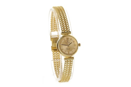 Lot 776 - LADY'S VICENCE NINE CARAT GOLD QUARTZ WRIST...