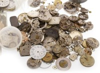 Lot 810 - GROUP OF WATCH MOVEMENTS AND PARTS including...