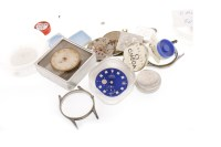 Lot 812 - GROUP OF MOSTLY OMEGA WATCH DIALS AND PARTS...