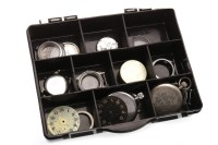 Lot 821 - COLLECTION OF MOSTLY MILITARY WATCH PARTS AND...