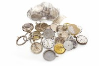 Lot 822 - GROUP OF VARIOUS POCKET WATCH PARTS including...