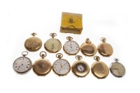 Lot 825 - GROUP OF VARIOUS POCKET WATCHES mostly gold...