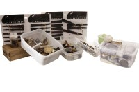 Lot 831 - LARGE GROUP OF VARIOUS WATCH PARTS AND DIALS...