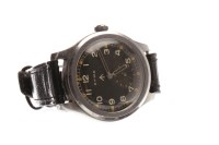Lot 834 - GENTLEMAN'S MILITARY ISSUE CYMA STAINLESS...