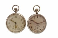 Lot 840 - TWO MILITARY ISSUE POCKET WATCHES each with...