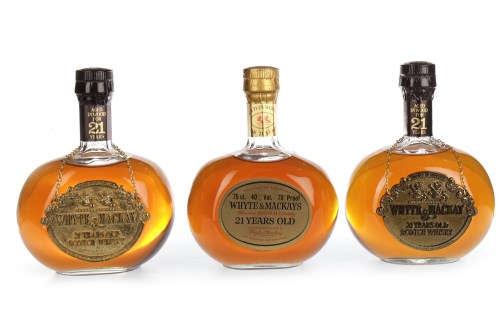 Lot 1002-WHYTE AND MACKAY 21 YEAR OLD Blended Scotch...
