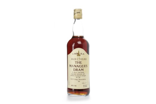 Lot 1235-CAOL ILA THE MANAGER'S DRAM AGED 15 YEARS Active. ...