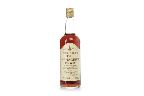 Lot 1260 - GLEN ELGIN MANAGERS DRAM AGED 15 YEARS Active....